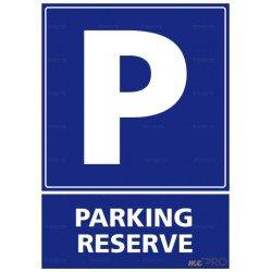 Panneau rectangulaire vertical Parking réservé