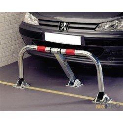 Barrière de parking rabattable et indéformable 3 pieds avec serrure clavette