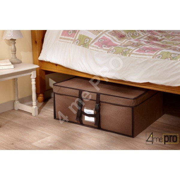 housse de rangement sous vide dans valisette en tissu 50x65x15cm. Black Bedroom Furniture Sets. Home Design Ideas