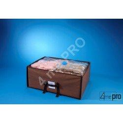 Housse de rangement sous vide dans valisette en tissu 50 x 65 x 27 cm