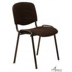 Chaise de bureau empilable ISO tissu Cagliari