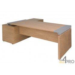 Bureau de direction sur console à 2 tiroirs à droite XO