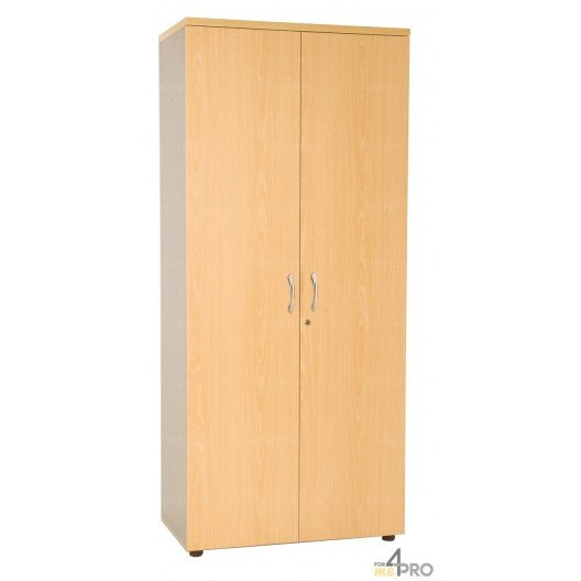 armoire haute de rangement 1 80mx80cm en bois tablettes. Black Bedroom Furniture Sets. Home Design Ideas
