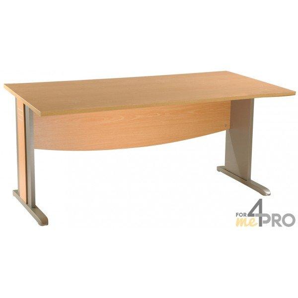 bureau plan carr dual 80 x 80 cm avec pieds en l 4mepro. Black Bedroom Furniture Sets. Home Design Ideas