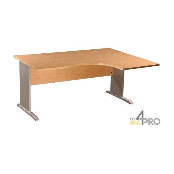 Bureau compact avec retour droite dual 1 60mx1 2 m for Bureau compact