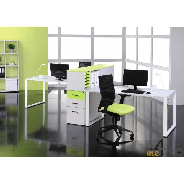 bureau plan rectangulaire urban 1 40m x 80cm avec pieds m tal. Black Bedroom Furniture Sets. Home Design Ideas