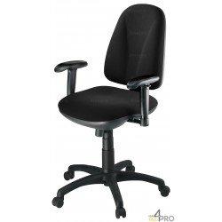 Chaise de bureau à roulettes Arobase tissu Cagliari