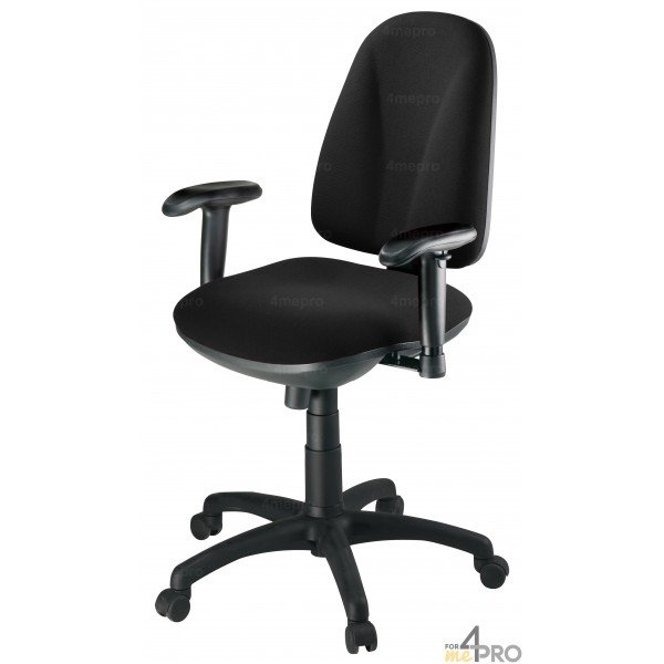 Chaise de bureau roulettes arobase tissu cagliari 4mepro - Chaise de bureau tissu ...