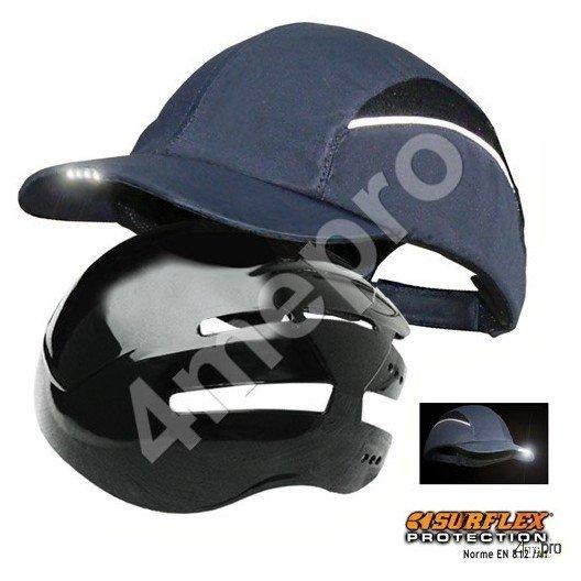 casquette de protection led bleu marine nf en812 a1 4mepro. Black Bedroom Furniture Sets. Home Design Ideas