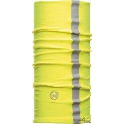 Bandeau multifonction réfléchissant protection chaleur et poussière Buff Dry Cool jaune
