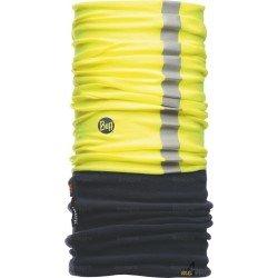 Bandeau multifonction réfléchissant protection froid Buff Polar jaune et bleu