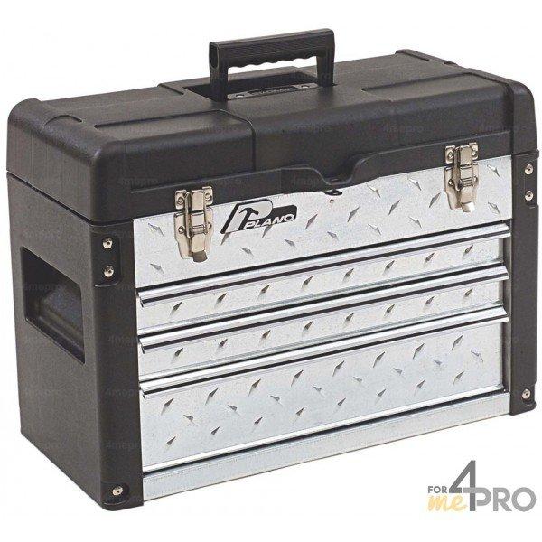 Boite outils professionnelle tiroirs 57 x 29 x 40 6 cm for Malette aluminium leroy merlin