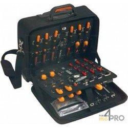 Valise Trolley porte outils professionnelle en EVA 48 x 24 x 46 cm