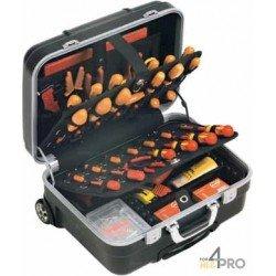 Valise Trolley porte outils rigide et antichoc 53 x 26 x 42 cm