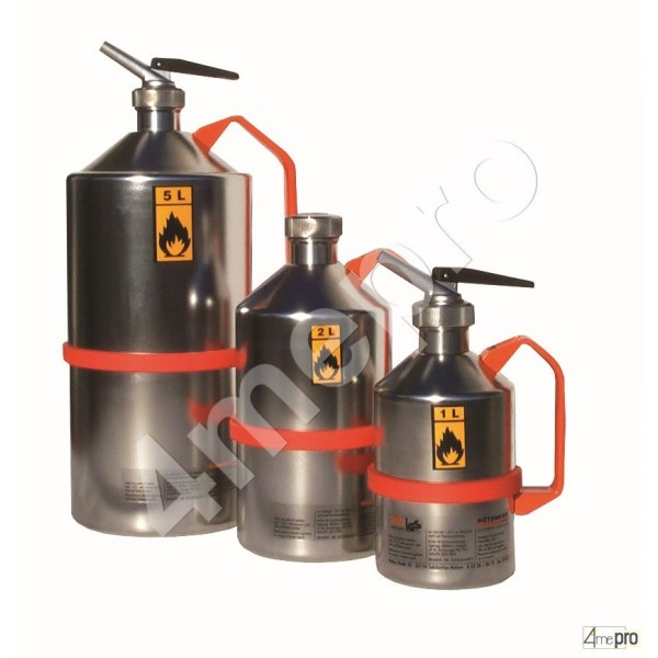 4mepro-bidon De Sécurité Inox 1 L Avec Valve De Surpression
