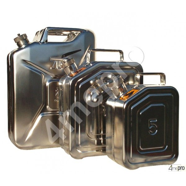 4mepro-jerrican Inox 20 L Avec Bec Verseur