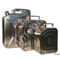 Jerrican inox 10 L avec valve de surpression