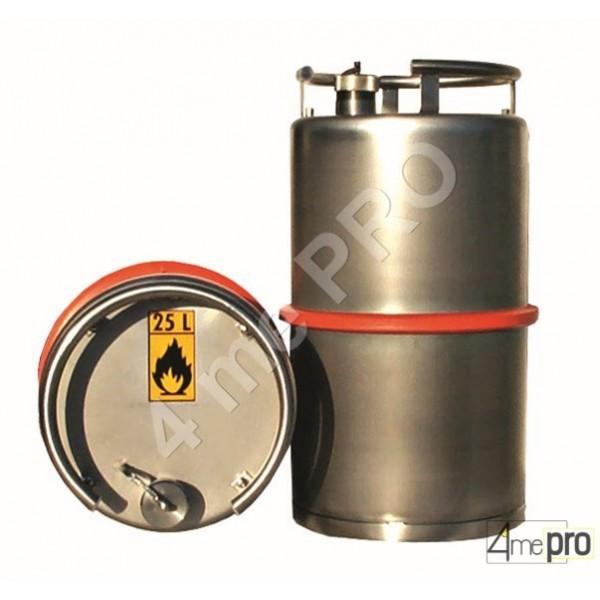 4mepro-fût Inox 25 L Avec Valve De Surpression