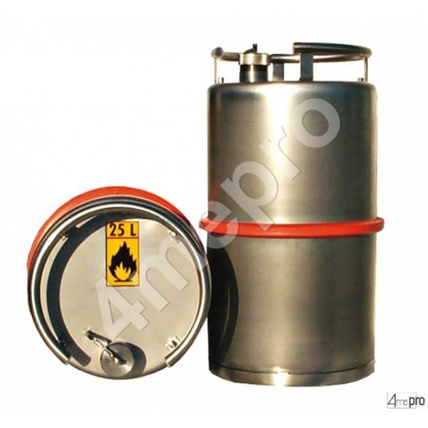 4mepro-fût Inox Adr 25 L Pour Transport Routier
