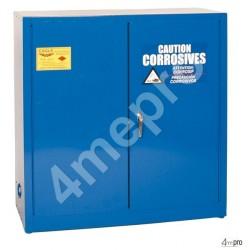 Armoire de sécurité 113 L bleue pour acides et produits corrosifs