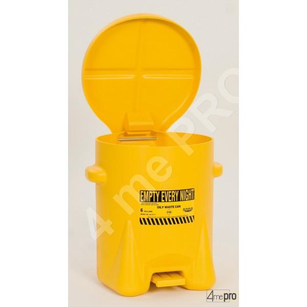 4mepro-poubelle Anti Feu à Pédales Pour Déchets 23 L