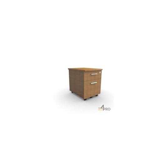 caisson roulettes en bois 2 tiroirs 4mepro. Black Bedroom Furniture Sets. Home Design Ideas