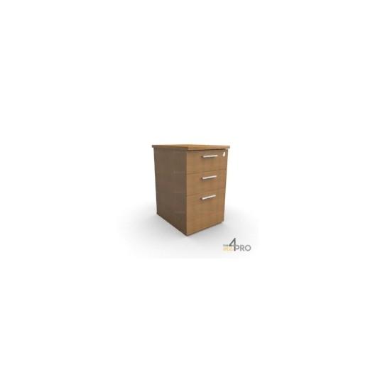 caisson de bureau en bois 3 tiroirs 4mepro. Black Bedroom Furniture Sets. Home Design Ideas