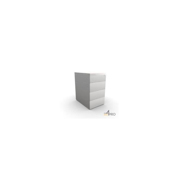 Caisson de bureau en m tal 4 tiroirs 60 cm de profondeur for Bureau 60 cm de largeur
