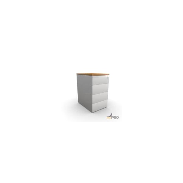 Caisson de bureau en m tal 4 tiroirs 60 cm de profondeur for Bureau 60 cm largeur