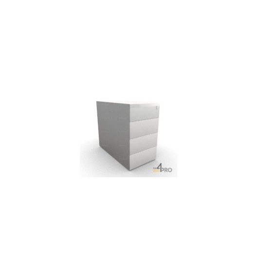 caisson de bureau en m tal 4 tiroirs 80 cm de profondeur. Black Bedroom Furniture Sets. Home Design Ideas