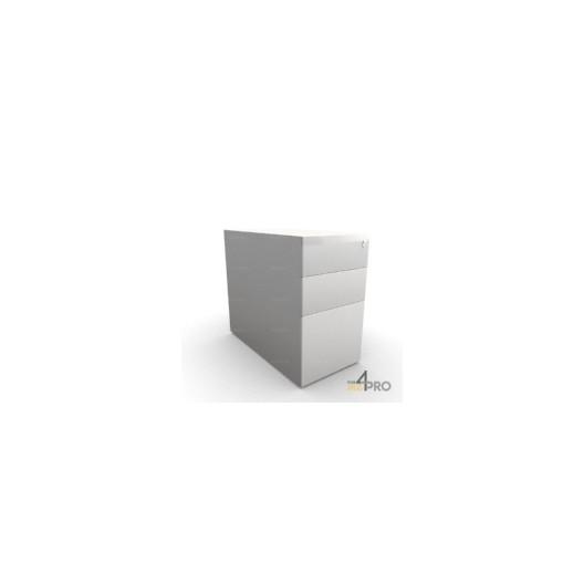 caisson de bureau en m tal 3 tiroirs 80 cm 4mepro. Black Bedroom Furniture Sets. Home Design Ideas
