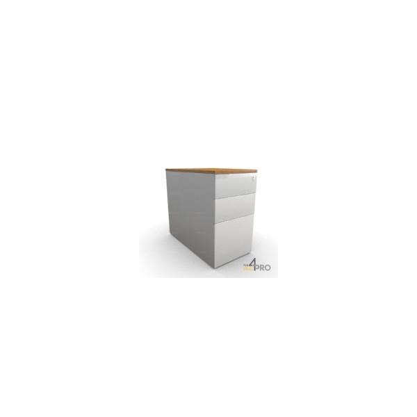 Caisson de bureau en m tal 3 tiroirs 80 cm 4mepro for Bureau 80 cm de largeur