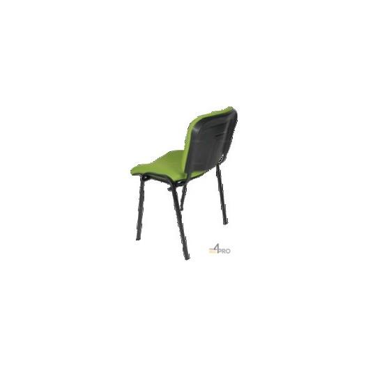 Chaise visiteur tissu ds10 sans accoudoir pieds noir 4mepro - Chaise tissu noir ...