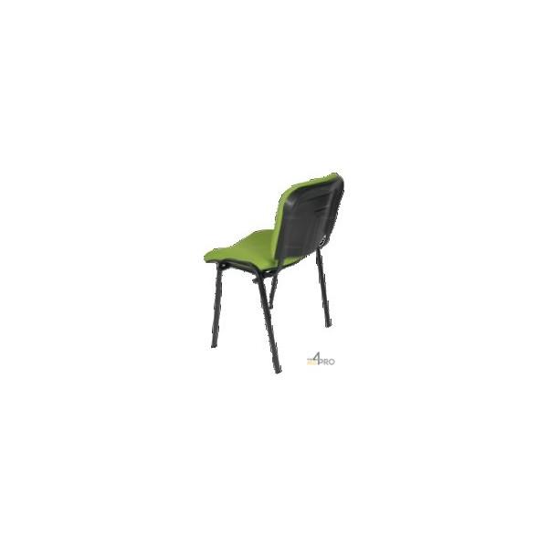chaise visiteur tissu ds10 sans accoudoir pieds noir 4mepro. Black Bedroom Furniture Sets. Home Design Ideas