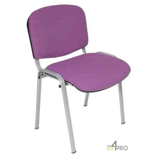 chaise visiteur tissu ds20 sans accoudoir pieds gris alu 4mepro. Black Bedroom Furniture Sets. Home Design Ideas