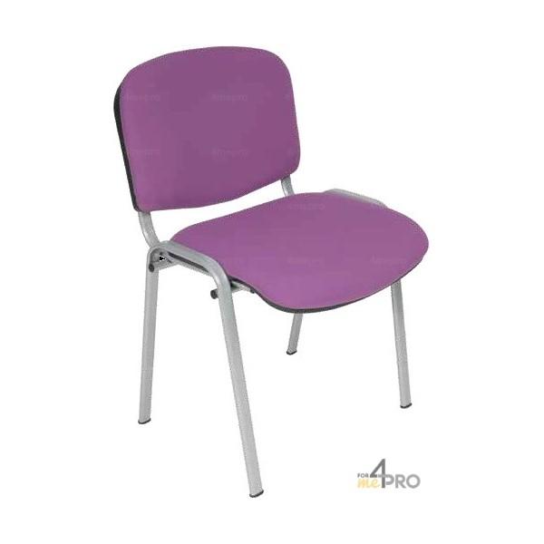 4mepro-chaise Visiteur Tissu Ds20 Sans Accoudoir Pieds Gris Alu