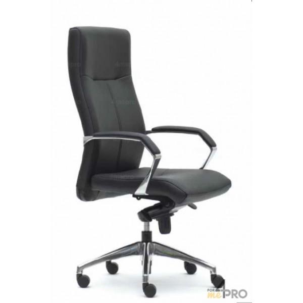 4mepro-fauteuil De Direction Basculant Décalé En Cuir Noir Luxor