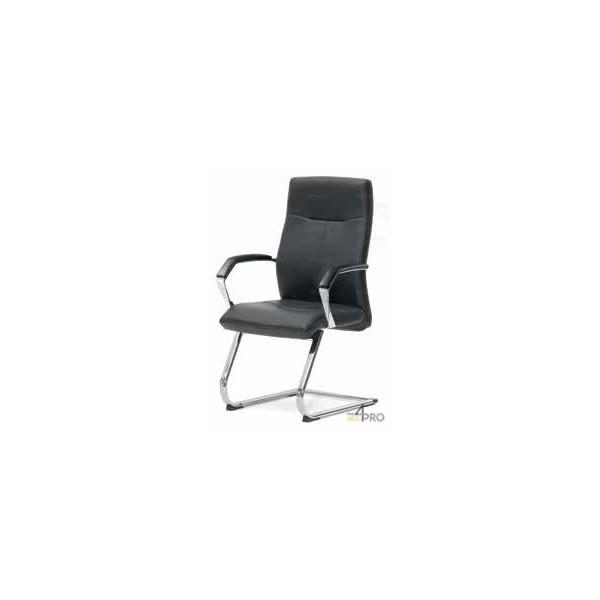 4mepro-fauteuil Visiteur Avec Pieds Luge Chromé Et Accoudoirs Luxor