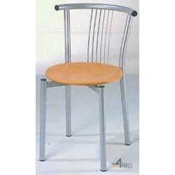 Chaise avec assise en bois vernis naturel Resto