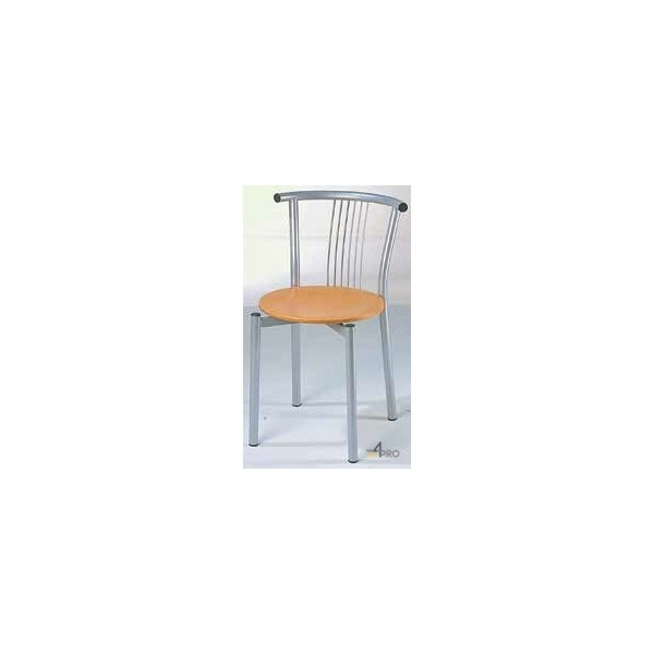4mepro-chaise Avec Assise En Bois Vernis Naturel Resto