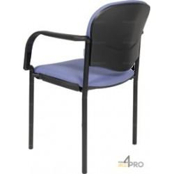 Chaise visiteur en tissu avec accoudoirs CP40