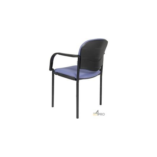 chaise visiteur en tissu avec accoudoirs cp40 4mepro. Black Bedroom Furniture Sets. Home Design Ideas