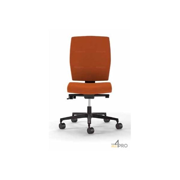 4mepro-fauteuil De Bureau Synchrone Plus Avec Dossier Haut + Pieds Noirs Square Bicolore Blanc
