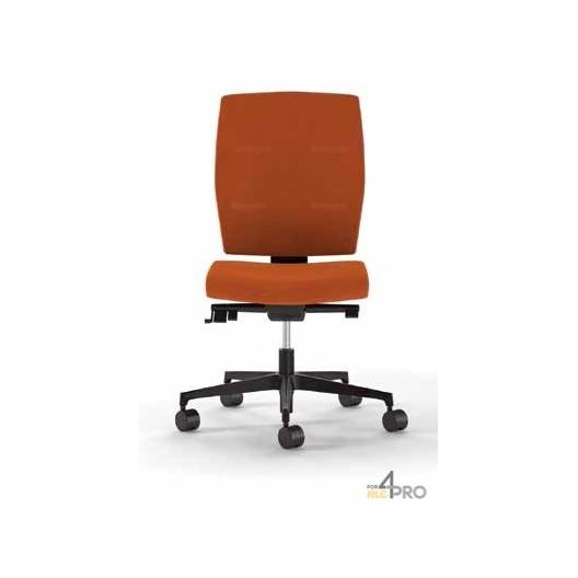 fauteuil de bureau dossier haut pieds alu poli bicolore. Black Bedroom Furniture Sets. Home Design Ideas