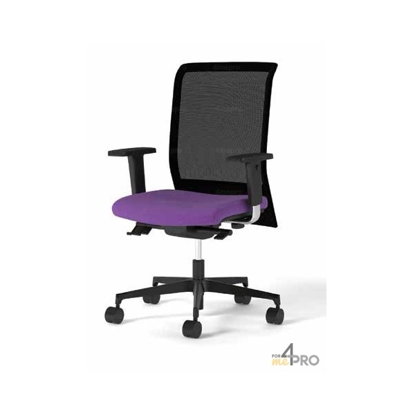 fauteuil de bureau synchrone avec dossier r sille pieds noirs. Black Bedroom Furniture Sets. Home Design Ideas