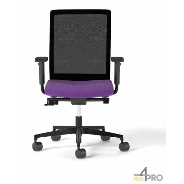 fauteuil de bureau synchrone avec dossier r sille pieds alu. Black Bedroom Furniture Sets. Home Design Ideas