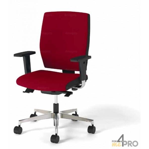 fauteuil de bureau synchrone avec dossier haut pieds noirs. Black Bedroom Furniture Sets. Home Design Ideas