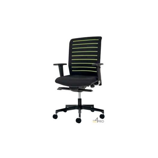 fauteuil de bureau synchrone plus avec dossier ray pieds noirs. Black Bedroom Furniture Sets. Home Design Ideas