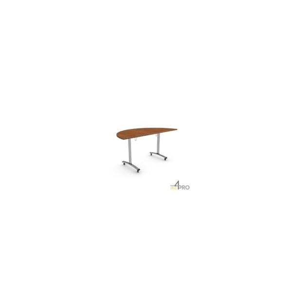 Table basculante fold demi ronde 160 x 80 cm 4mepro - Table ronde 80 cm ...