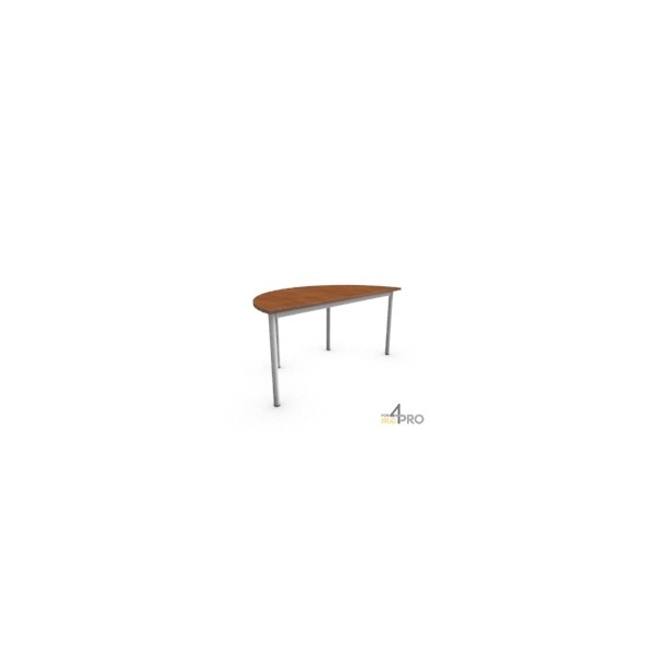 4mepro-table De Réunion Confort Demi Ronde 160 X 80 Cm